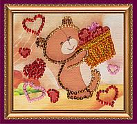 Набор-магнит для вышивки бисером «Лукошко счастья»