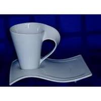 Чашка 200 мл c блюдцем Wave 21-04-139