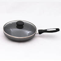 Сковорода алюминиевая диам.22см с антипригарным покрытием и стеклянной крышкой Krauff 25-27-028