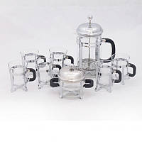 Набор 8 предметов: Френч-пресс 1000мл, сахарница и 6 чашек по 200мл Krauff 26-177-024
