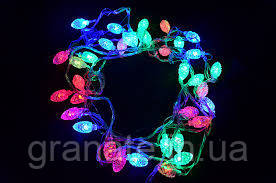 """Новогодняя гирлянда бахрома """"Шишки"""" 2,8х0,6 м, разноцветные"""