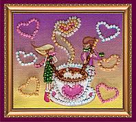 Набор-магнит для вышивки бисером «Аромат любви»