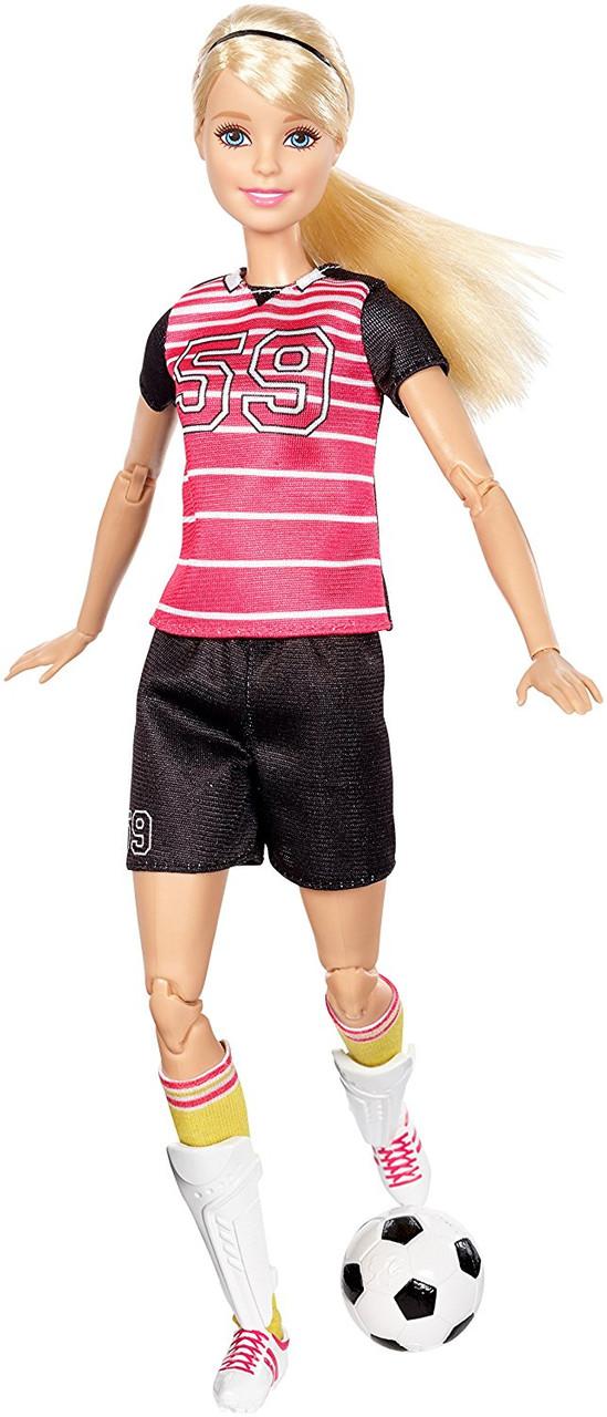 Кукла Барби Футболистка Двигайся как я Barbie Made To Move Soccer Player