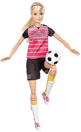 Кукла Барби Футболистка Двигайся как я Barbie Made To Move Soccer Player, фото 2