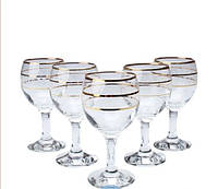 Набор бокалов декорированных под золото 165мл MISKET ArtCraft 31-146-088