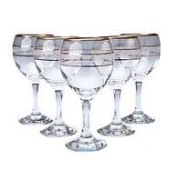 Набор бокалов для воды декорированных под золото 260мл MISKET ArtCraft 31-146-090