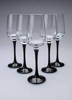 Набор бокалов на декорированной черной ножке 230мл ArtCraft 31-146-207