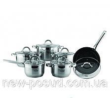 Набор посуды из нержавеющей стали 12 предметов Krauff 26-242-003
