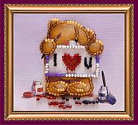Набор-магнит для вышивки бисером «С Днем влюбленных-1»