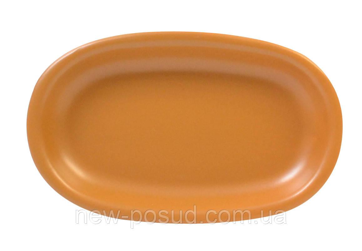 Блюдо овальное, размеры 19х12х2,6см, серия Терракота KERAMIA 24-237-030