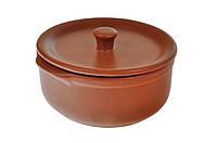 Кастрюля для запекания 600мл с крышкой Теракота  керамика.TM Keramia.24-237-054