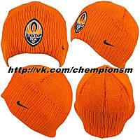 Зимнияя шапка с флисовой подкладкой Шахтер оранж.