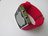 Ультра модные спортивные унисекс часы красные , фото 2
