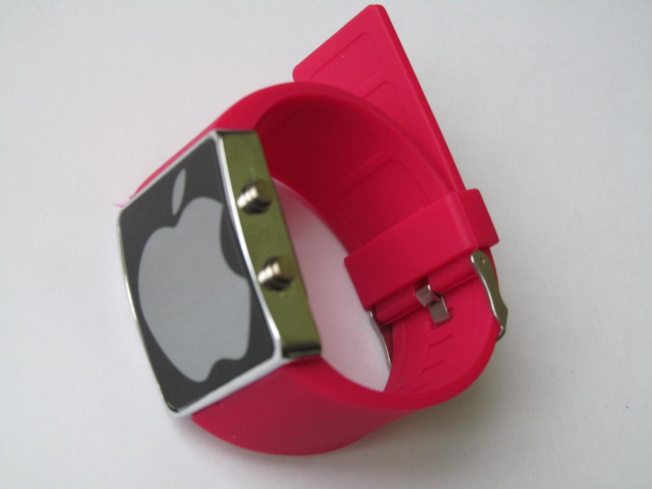 Ультра модные спортивные унисекс часы красные