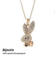 Кулон PLAYBOY ювелирная бижутерия золото 18к декор кристаллы Swarovski