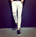Мужские штаны с рваным коленом, фото 2