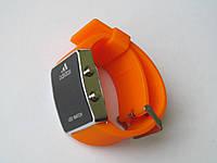Ультра модные спортивные унисекс часы оранж , фото 1