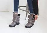 Кожаные сникерсы на липучках с мехом, фото 2
