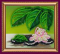 Набор-магнит для вышивки бисером «Белая лилия»