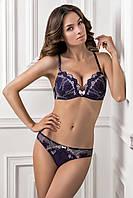 Сине-розовый комплект нижнего белья. Пуш-ап гель XENA 1143/75 GLORIS 2109/75 Jasmine lingerie