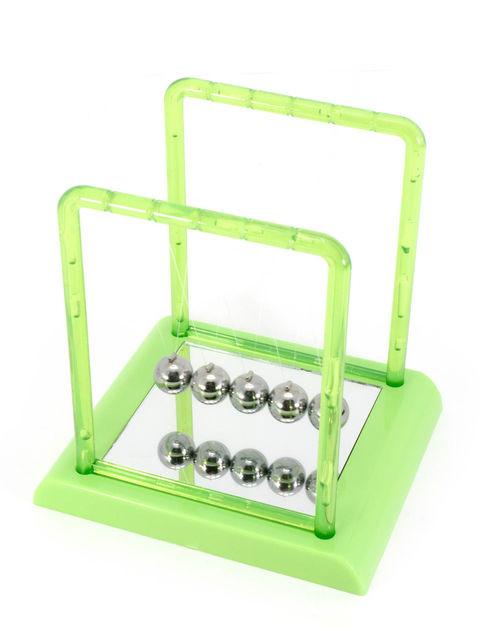 Шары балланс Ньютона квадрат зеленые(13,5х14х11,5 см)