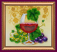 Набор-магнит для вышивки бисером «Бокал вина»