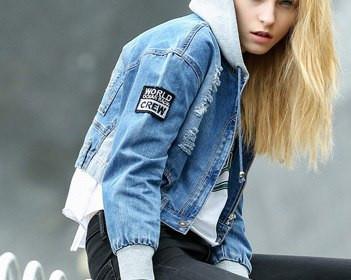 4f404b2e04f Джинсовая куртка с капюшоном - Mod Club в Житомире
