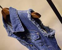 Женский джинсовый желет