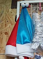 Новогодняя шапка Деда Мороза (шелковая)