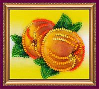 Набор-магнит для вышивки бисером «Спелые персики»