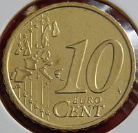 Монета Финляндии 10 евро центов. 2006 год