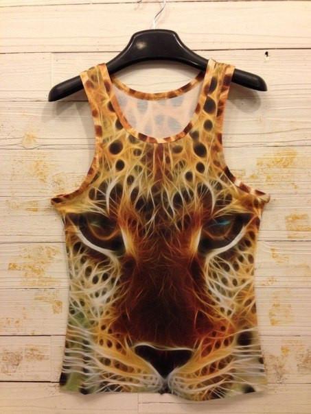 3D Майка Iswag с огненным леопардом