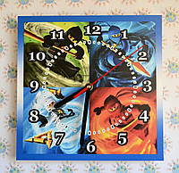 Квадратные настенные часы Лего Ниндзяго
