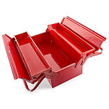 Ящик инструментальный металлический 450мм 3 секции INTERTOOL HT-5043, фото 4