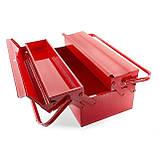 Ящик инструментальный металлический 450мм 3 секции INTERTOOL HT-5043, фото 5