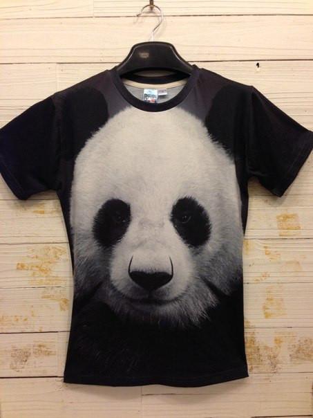 3D футболка с пандаой