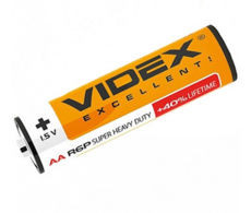 Батарейка солевая LR6/AA 1.5V 3шт. в упаковке Videx