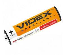 Батарейка солевая LR6/AA 1.5V 3шт. в упаковке Videx, фото 2