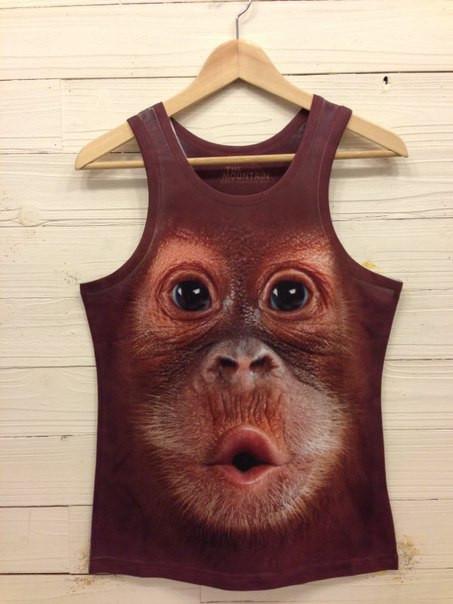 Iswag 3D Майка с обезьяной