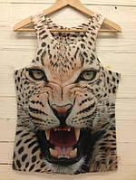 Iswag Майка 3D с принтом леопарда