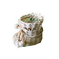 Ботиночек плетенный (ротанг)