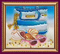 Набор-магнит для вышивки бисером «На пляже»