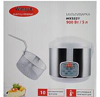 Мультиварка для дома Wimpex WX-5521 на 5 литров и 10 автоматических режимов приготовления + фритюрница.