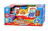 Игровой набор мини-касса 7162, корзинка и набор продуктов