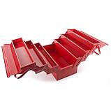 Ящик инструментальный металлический 450мм 7 секций INTERTOOL HT-5047, фото 4