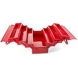 Ящик инструментальный металлический 450мм 7 секций INTERTOOL HT-5047, фото 5