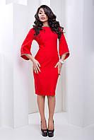 Изысканное Вечернее Платье с Интересным Рукавом и Стразами Красное XS-L
