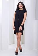 Стильное Вечернее Платье Черное с Удлиненной Спинкой XS-М