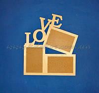 "Рамка ""LOVE"" заготовка для декора"