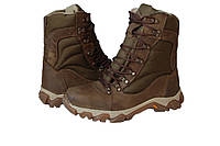 Ботинки М305 нубук койот с с искусственным мехом
